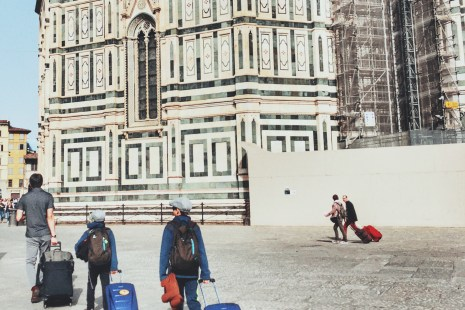 florence with kids on a family trip to Italy