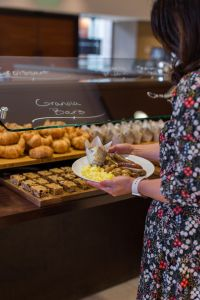 pastries and granola bars at the brunch buffet at Eques Restaurant in Bellevue