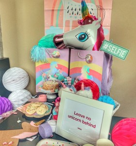 unicorn party ideas with Anko USA and Jenny cookies