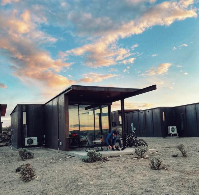 olson kundig tiny homes in Quincy Washington at the Sagecliff Resort