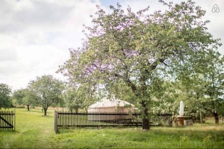 Besondere-Airbnb-unterkünfte-in-Europa-Jurte-Garten