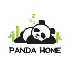 panda home toronto logo design [ 1024 x 1024 Pixel ]