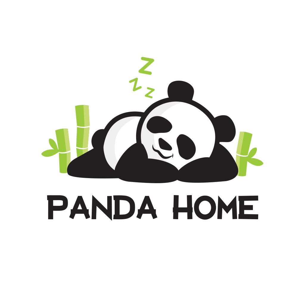 hight resolution of panda home toronto logo design
