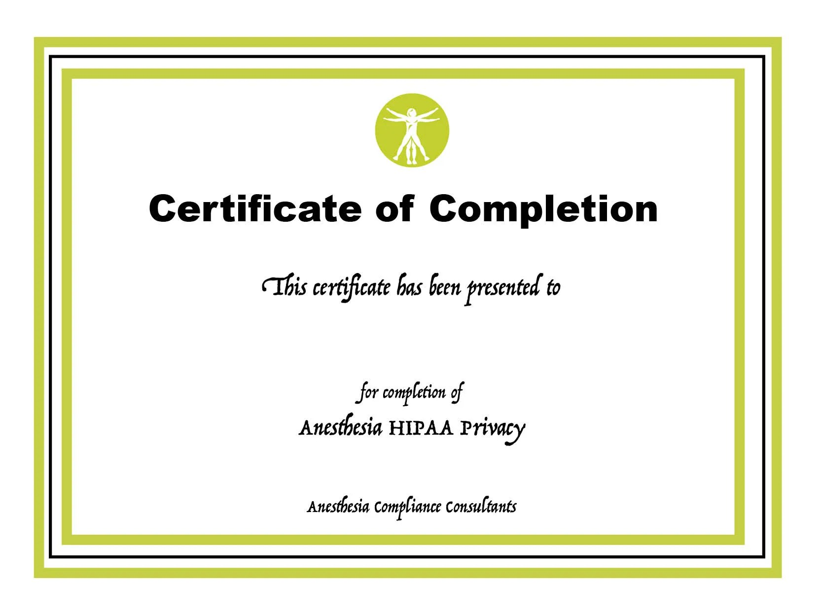 HIPAA Privacy Certificate