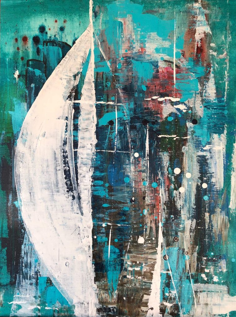 Sailing for life 58x78cm