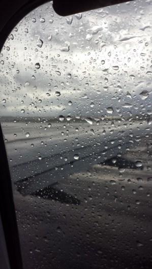 Vi forlod Danmark i et heftigt regnvejr lørdag morgen ...