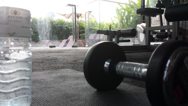 Træning med udsigt til liggestole.
