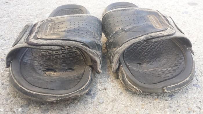 Thomas ødelagte sko