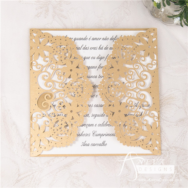 Laser Cut Gatefold Invitation