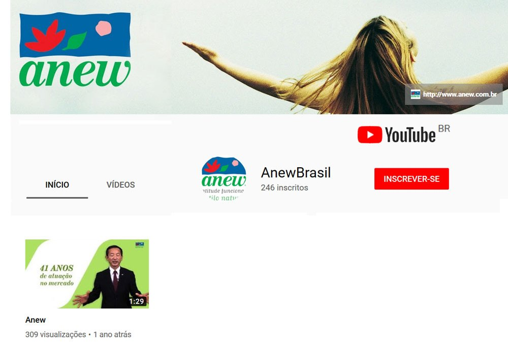Canal da Anew no YouTube