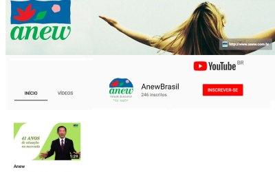 Canal da Anew no YouTube