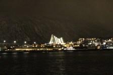 Ishavskatedralen at Night