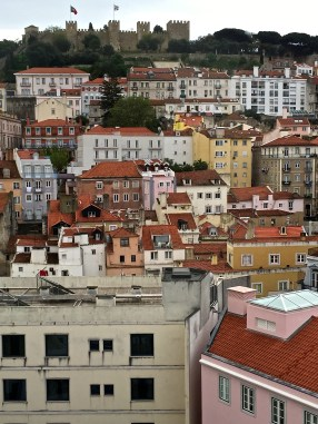 A view of São Jorge Castle and the Medieval Alfama district.