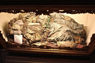 In the Church of St. Anthony rests the body of St. Justina, although I think the head might be papier mache, since she was beheaded.
