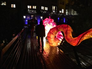 A Chinese Dragon has taken over the bridge.