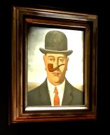 """Another painting in Magritte's popular """"This is not a pipe"""" series. (Of course it's not a pipe; it's a picture of guy hallucinating about a floating pipe.)"""