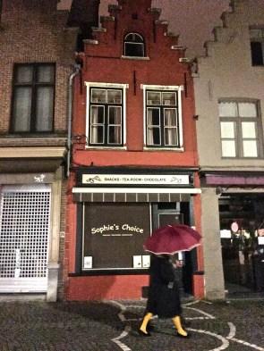 Rainy night in Bruges.