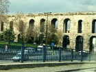 In Byzantine times, the Valens Aqueduct carried water 12 miles into the underground cistern.