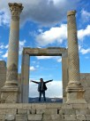 I'm standing in the entry to the naos (inner shrine) of the temple, constructed in the 2nd Century A.D.