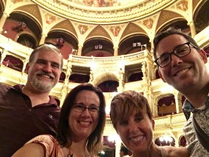 Gotta get a selfie in all this splendor. From left to right, Matthew's cousin Dave and his wife Beth -- awesome travel companions!!