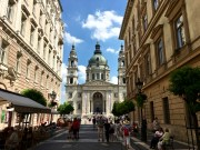 Like many of Budapest's buildings, St. István's Basilica is a typical Historicism mishmash of styles that makes it look much older than its actual years. St. István's (Stephen's) was built only around 100 years ago as part of the 1896 millennial celebration of the city.