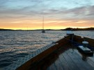 Nothing like a sunset cruise in Oslo's bay. Many of these sailboats are likely headed to islands that you can see along the horizon.
