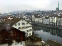 The Lindenhof neighborhood sits atop a pile of glacial debris that overlooks the Limmat River and the city's historic center. From here, you can get a great view of the more modern areas of Zürich, and on sunny days, you can supposedly see the Alps.