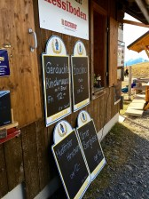 The menu offers sausage, cheese, and more sausage. Just what a hiker's colon needs after a long trek.