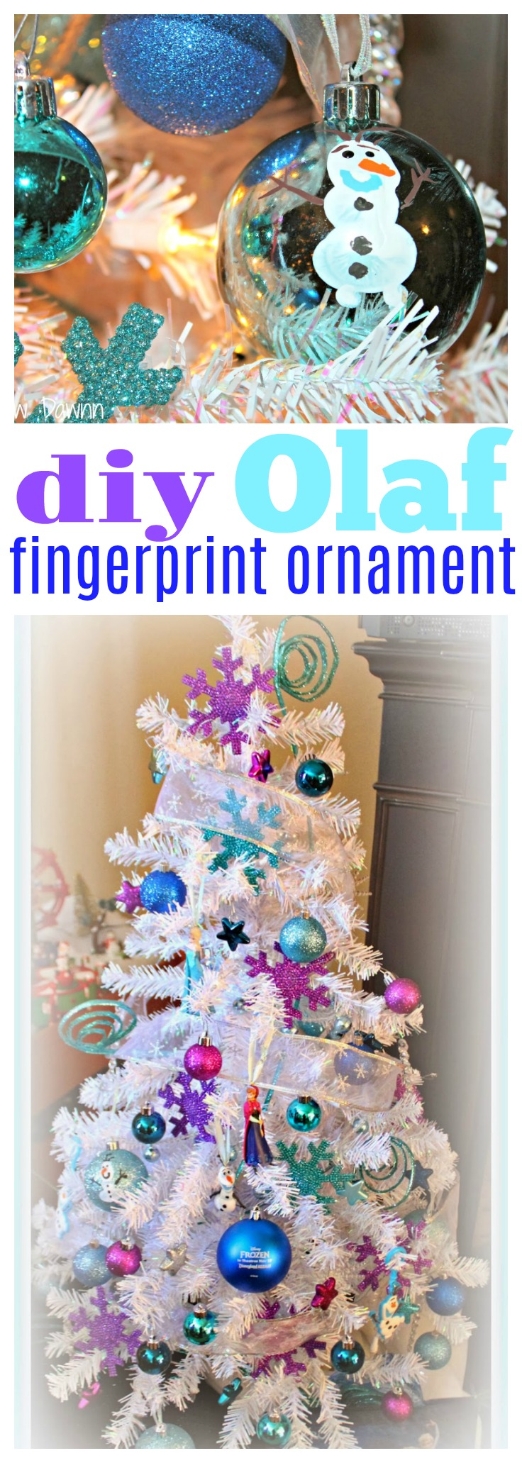 DIY Olaf Ornament