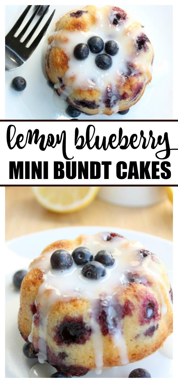 Lemon Blueberry Mini Bundt Cakes