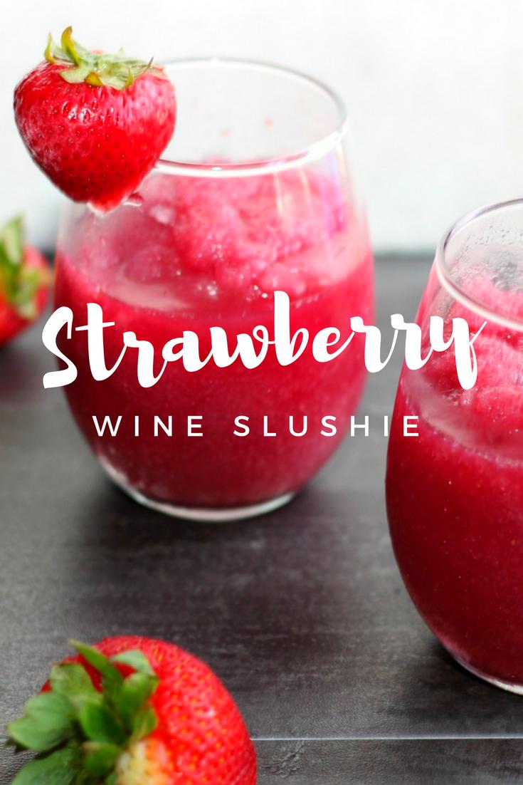 Strawberry Wine Slushie