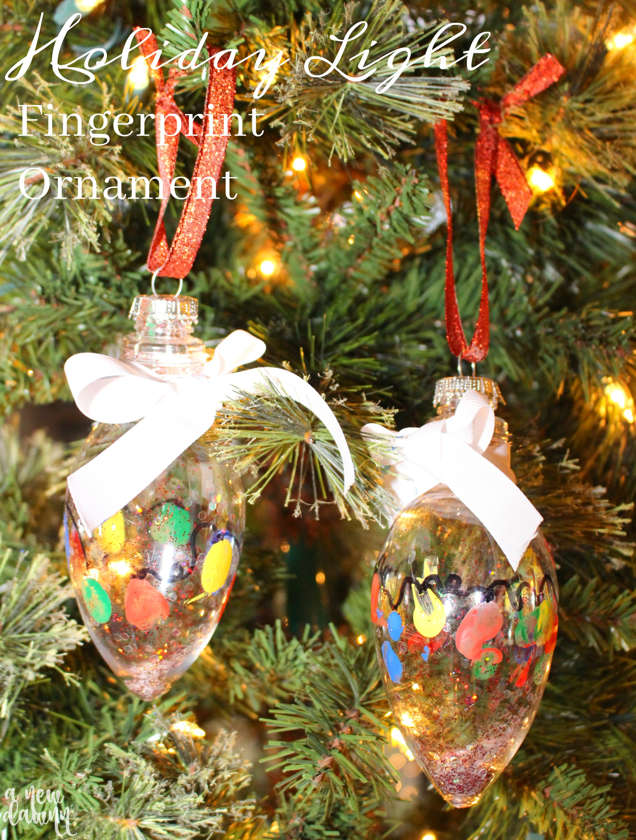 Holiday Light Fingerprint Ornament