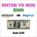 Giveaway Time | Enter to WIN $100 Amazon or Paypal [Ends 3/23]