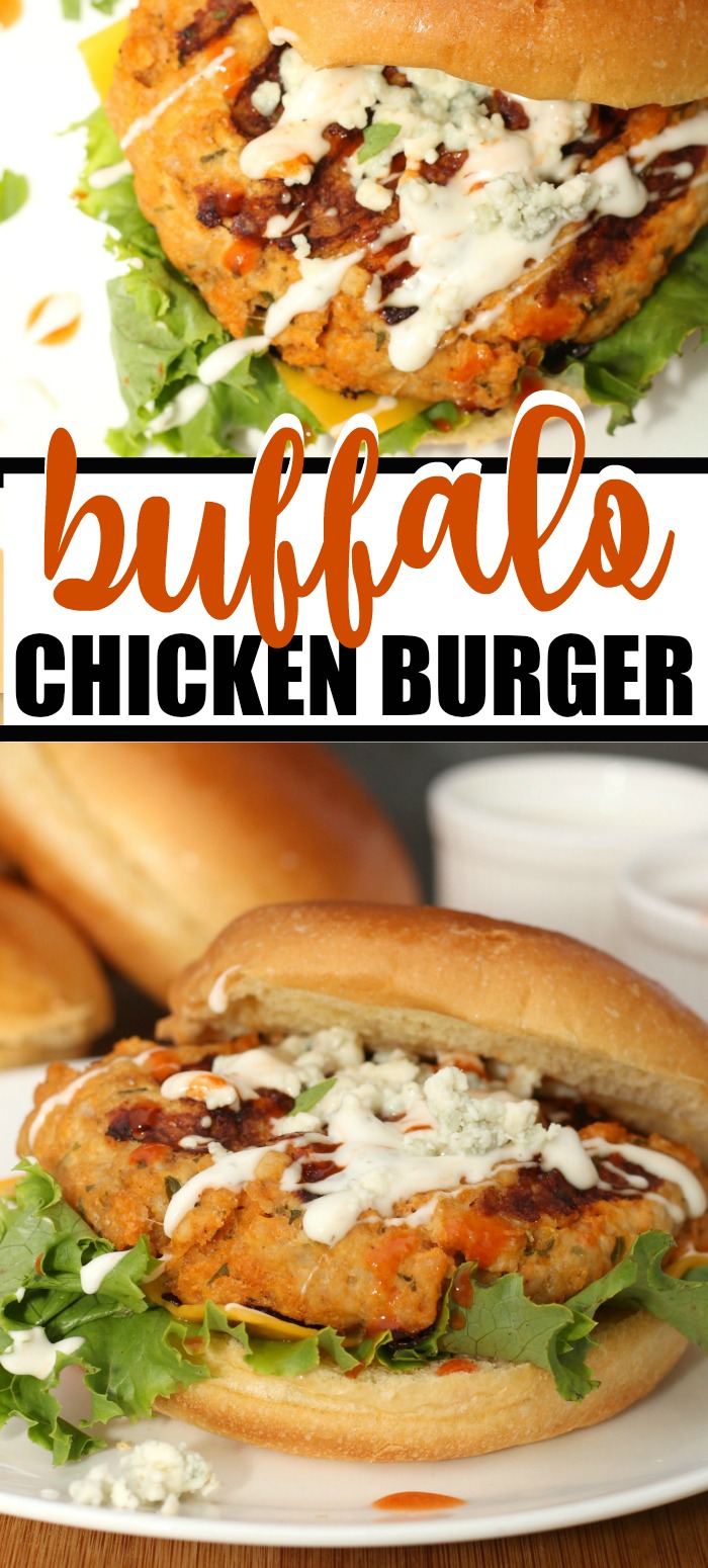 Take you love of Buffalo Chicken to a whole new level with this Buffalo Chicken Burger recipe. Simple to make and oh so delicious!