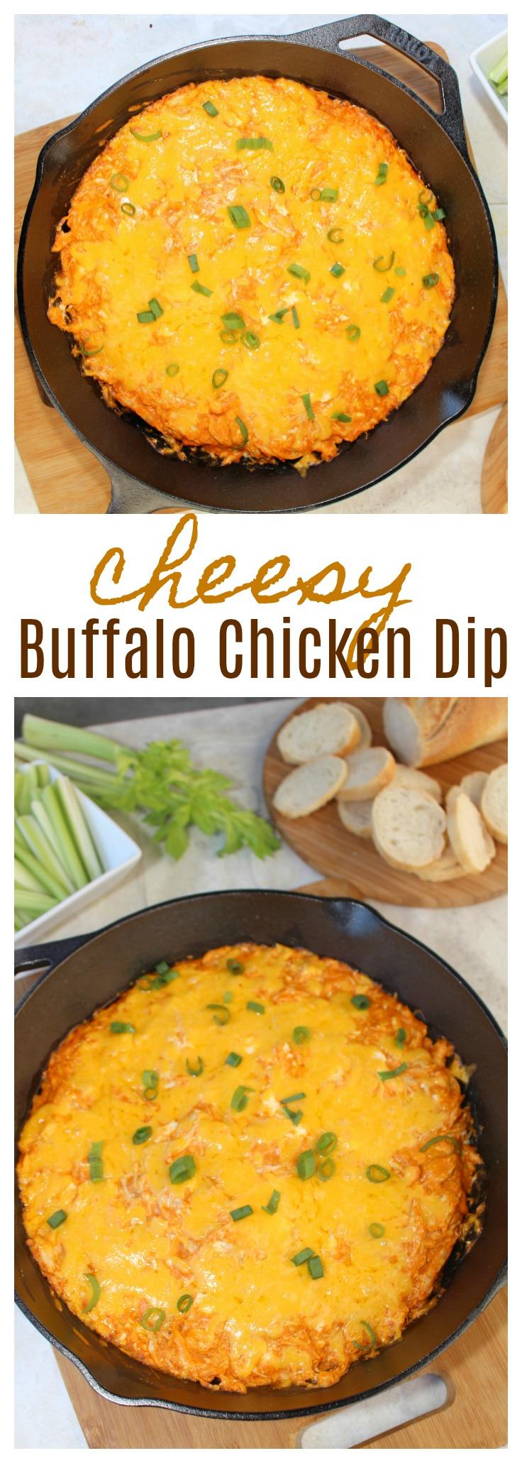Cheesy Buffalo Chicken Dip