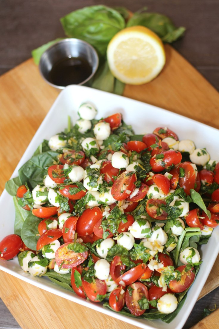 Caprese Salad with Lemon Balsamic Dressing