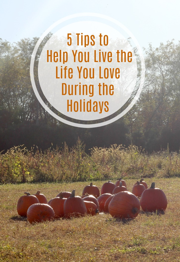 5 Tips to Help You Live the Life You Love During the Holidays
