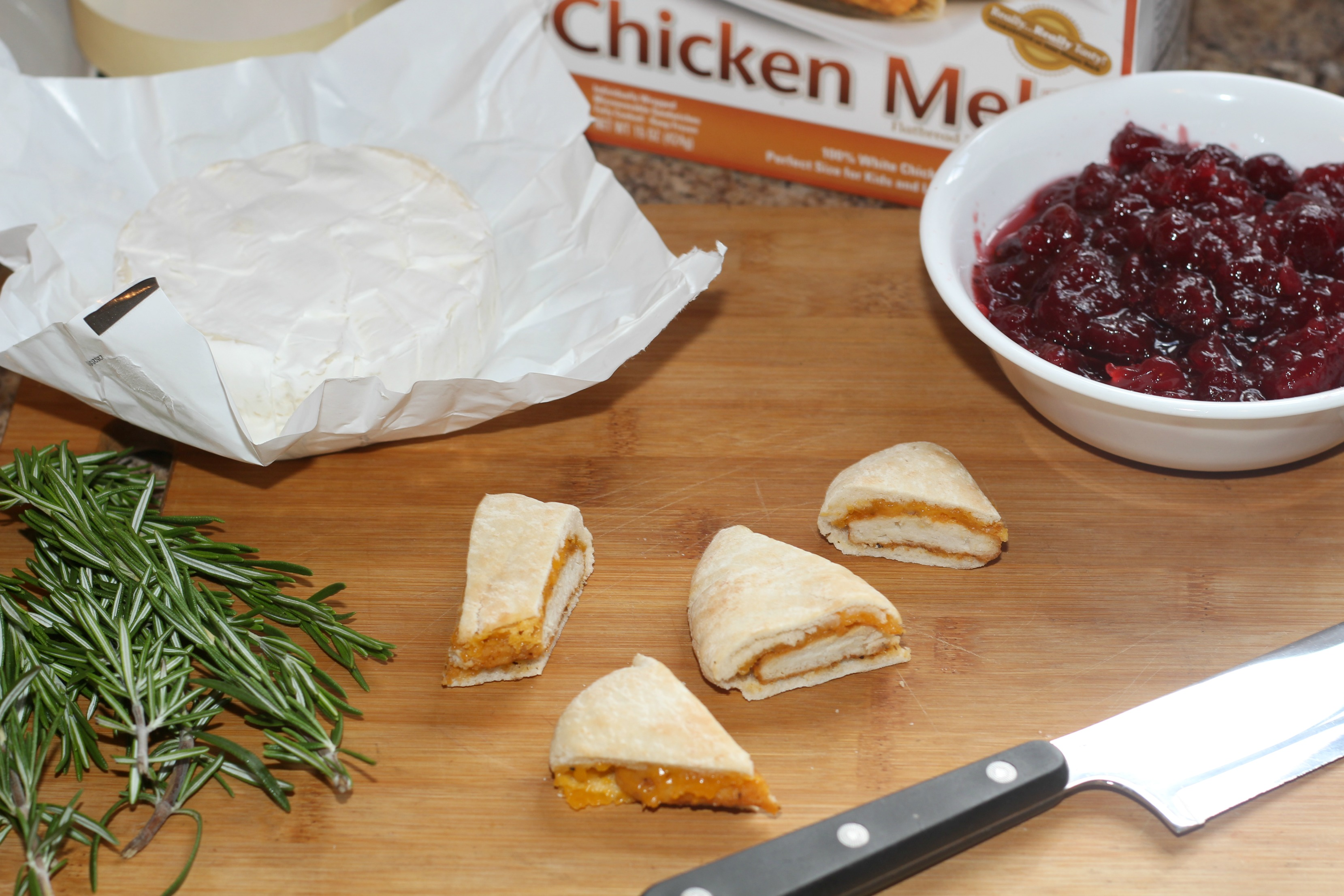 Cranberry Brie Chicken Bites