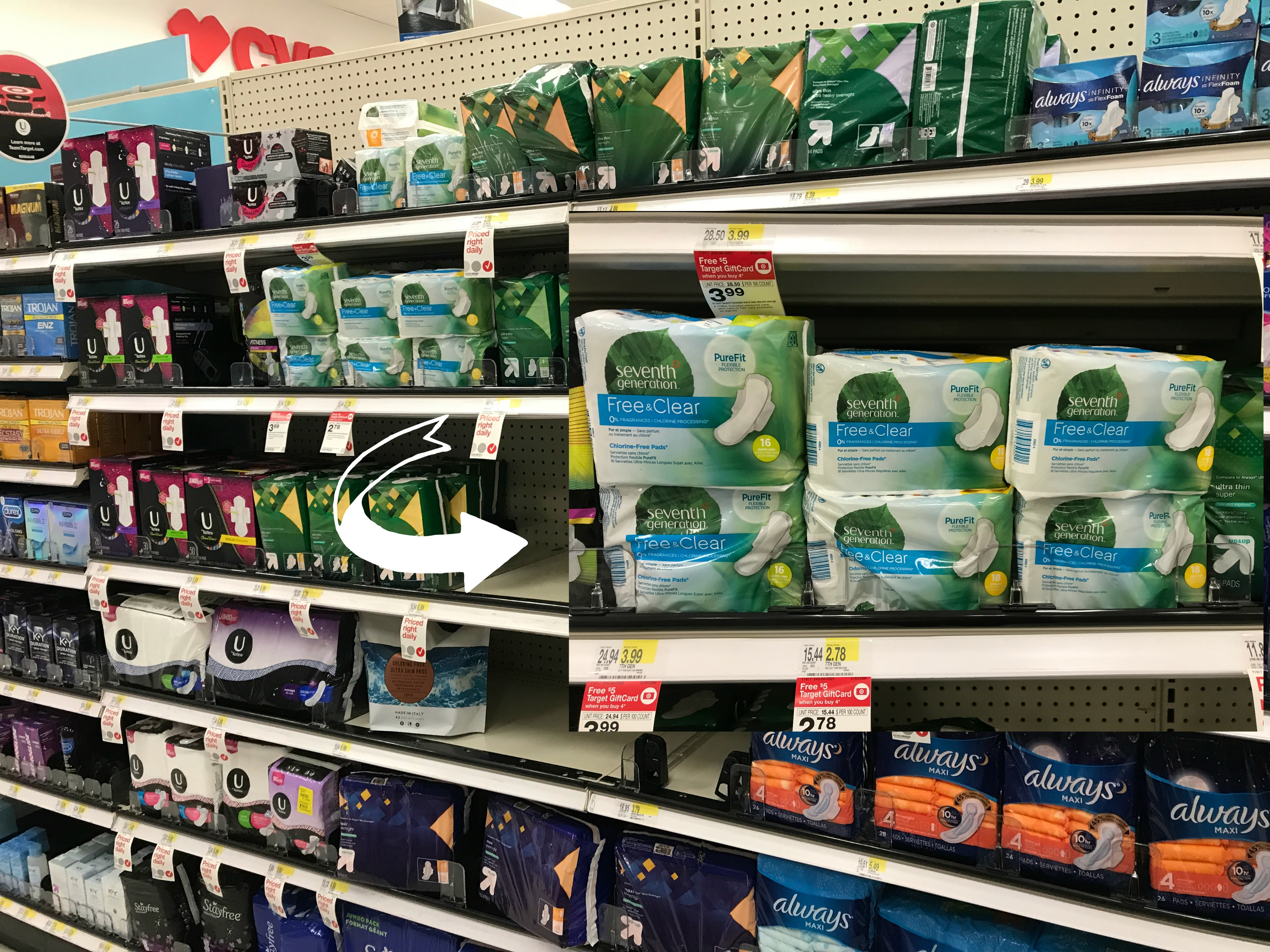 Seventh Generation Feminine Care Products