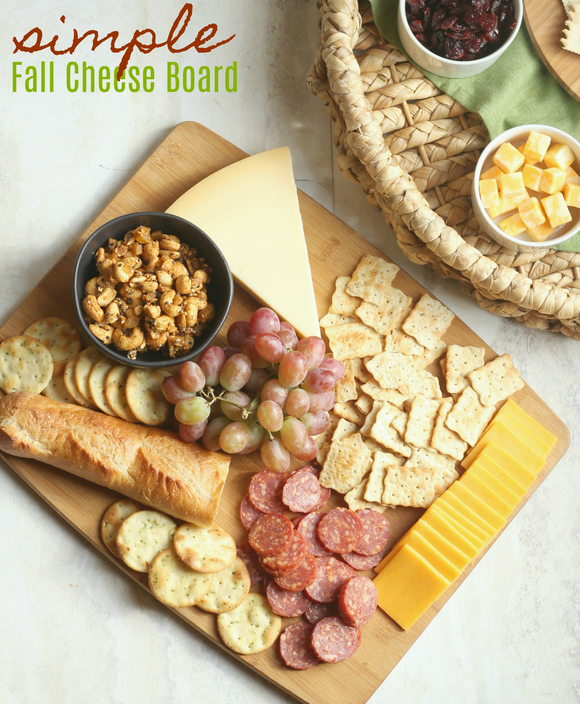 Simple Fall Cheese Board