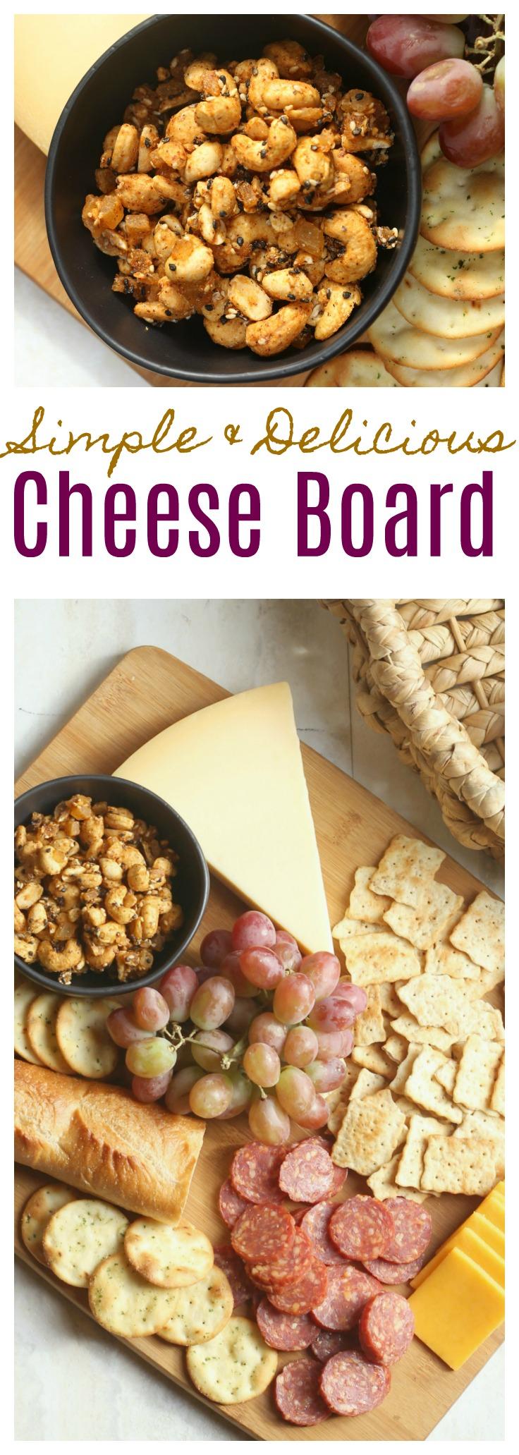 Simple Fall Cheese Board