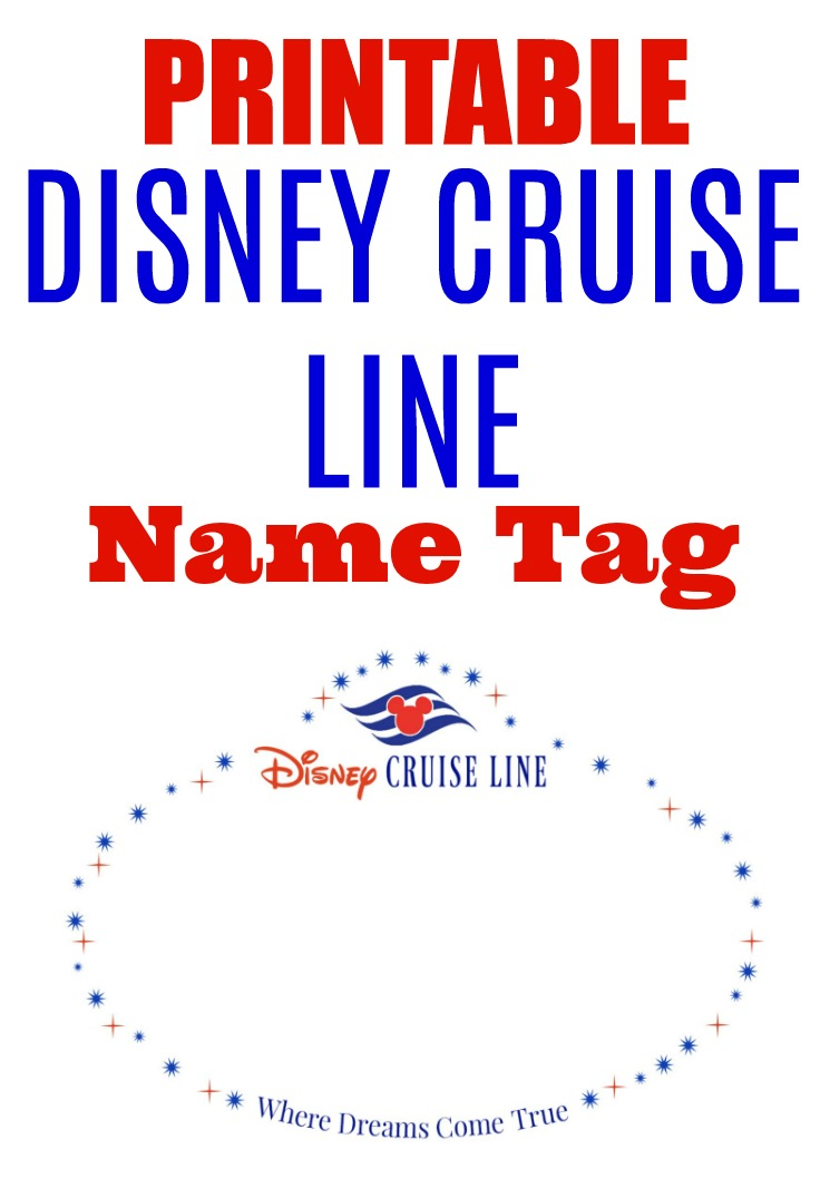 image relating to Printable Door Decorations known as Printable Disney Cruise Line Standing Tag