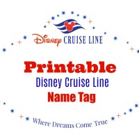 Decorate Your Stateroom Door with this Printable Disney Cruise Line Name Tag