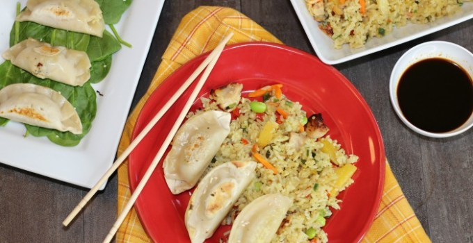 Celebrate Chinese New Year with this Dumplings & Chicken Fried Rice Recipe