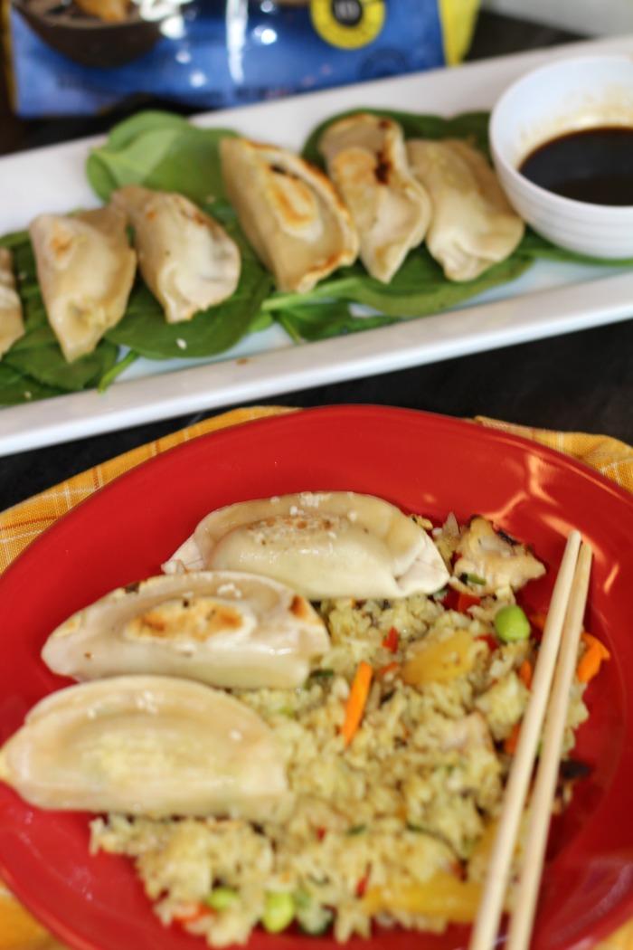 Dumplings & Chicken Fried Rice