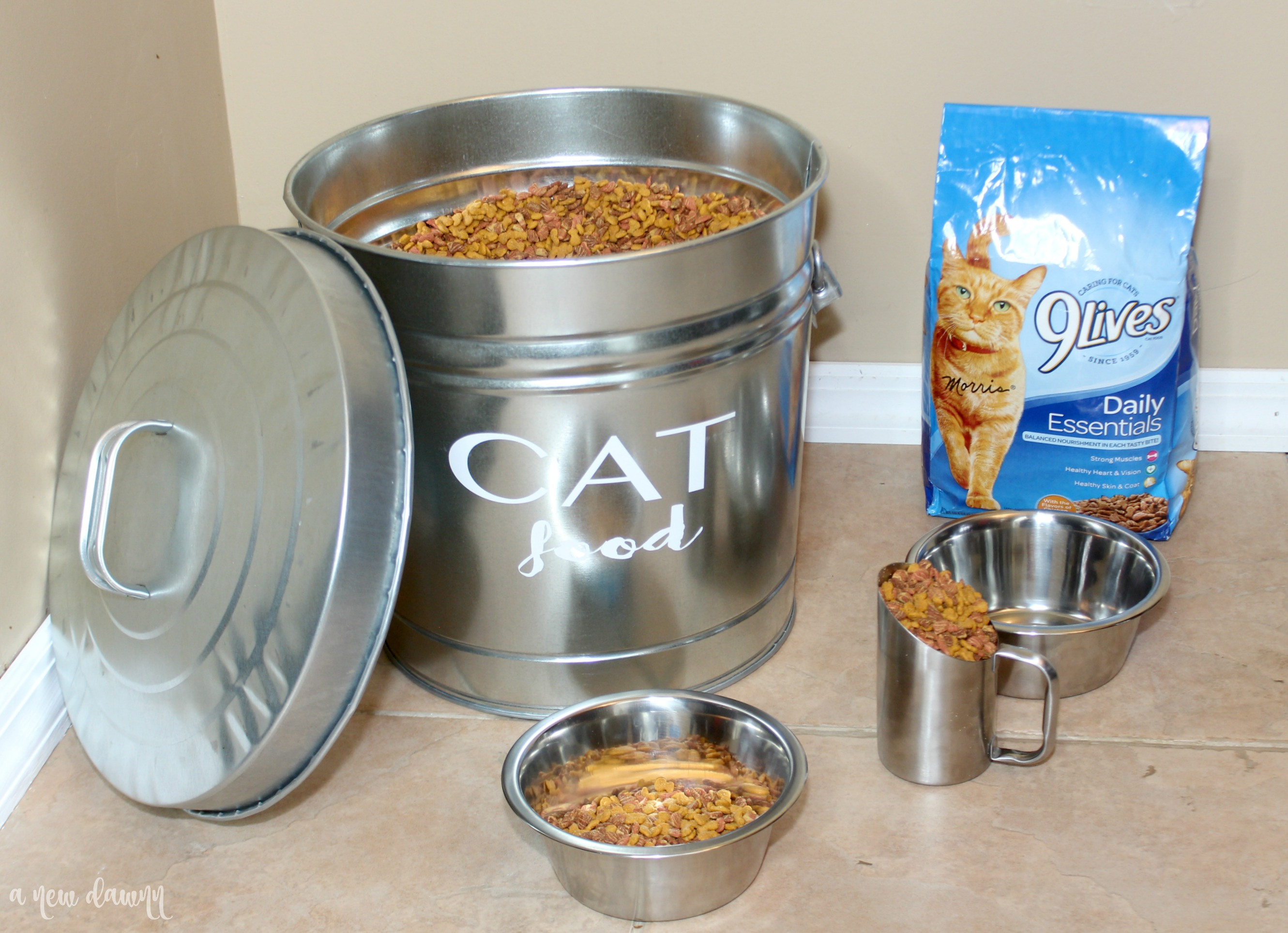 DIY Cat Food Storage Container