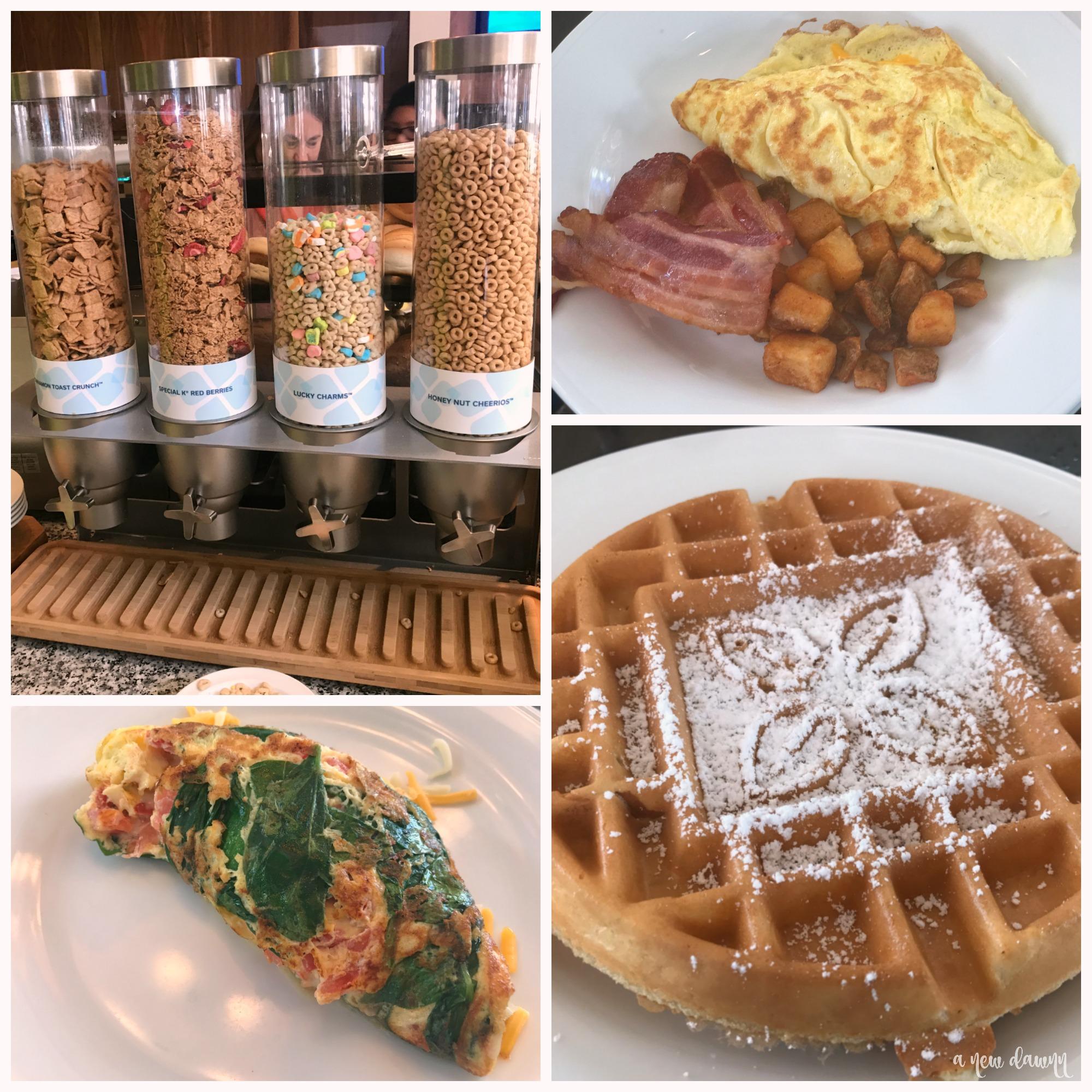 breakfast options at the Hilton Garden Inn Hershey Hotel