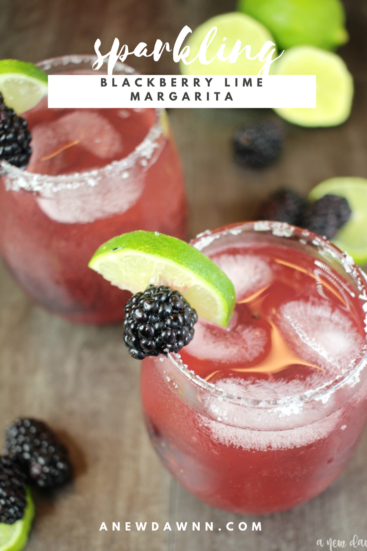 Sparkling Blackberry Lime Margarita Pinterest Image