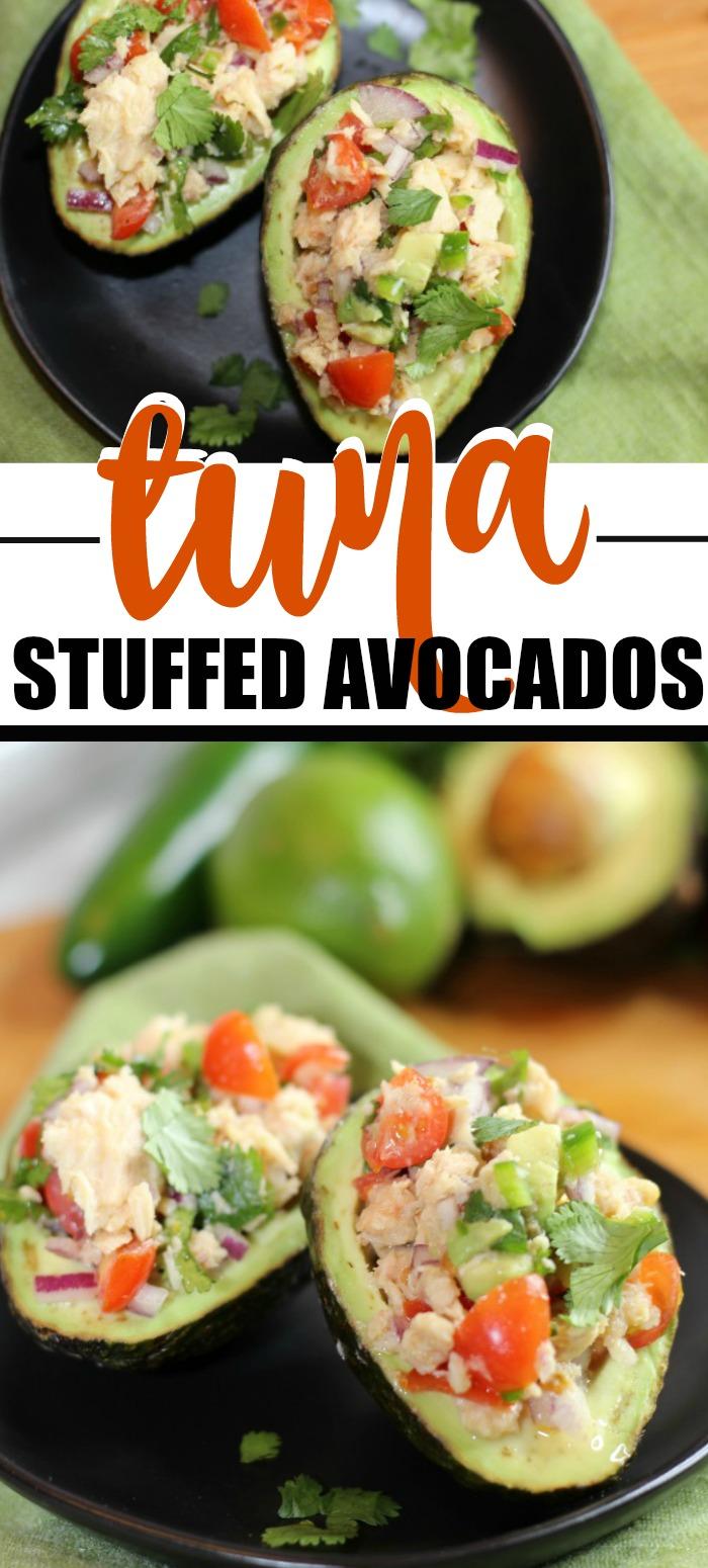 Keto Friendly Tuna stuffed avocados