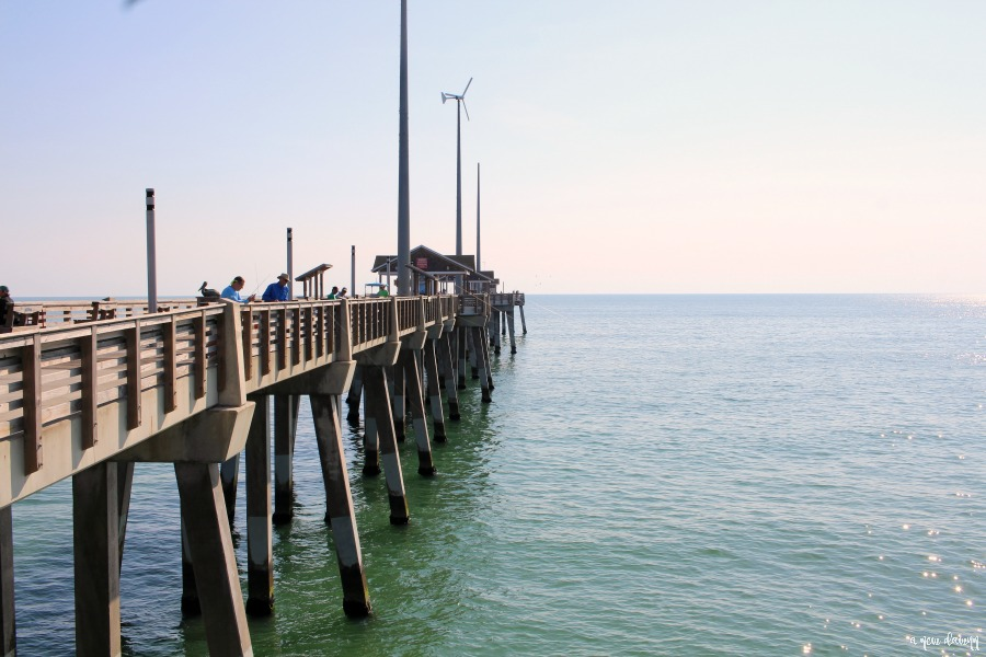 Jennette's Pier over the ocean in Nags Head, NC